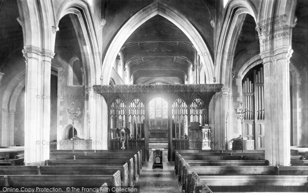 Bishops Stortford, St Michael's Church Interior 1899