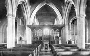 Bishops Stortford, St Michael's Church Interior 1899