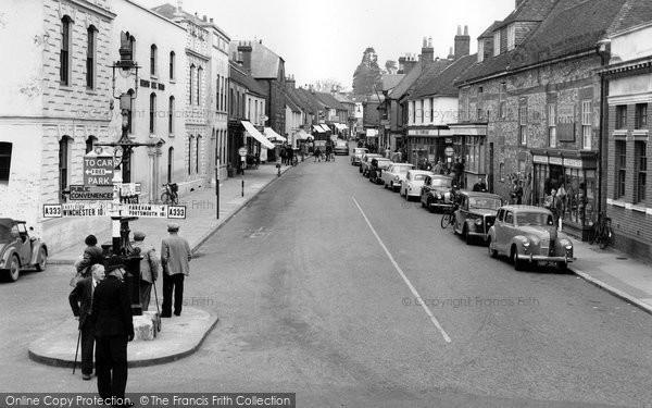 Bishops Waltham, High Street 1957