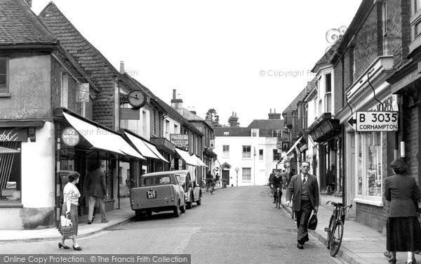 Bishops Waltham, High Street c.1955