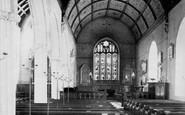 Bishopsteignton, Church Interior 1890