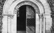 Bishopsteignton, Church, West Door 1890