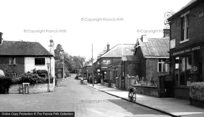 Photo of Bishopstoke, Post Office, Spring Lane c1955
