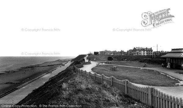 Bispham, Promenade And Beach c.1955