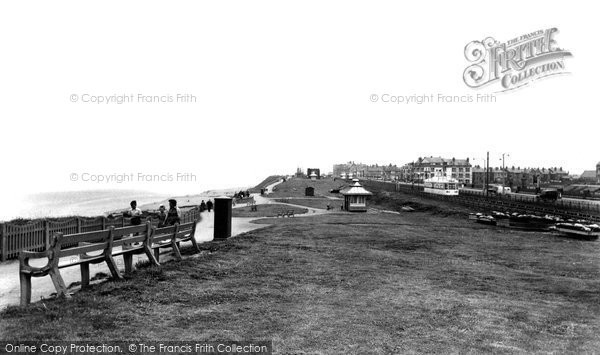 Bispham, Promenade And Beach c.1955