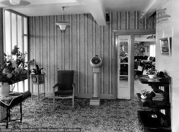 Bispham, The Hall, Palm Court c.1960