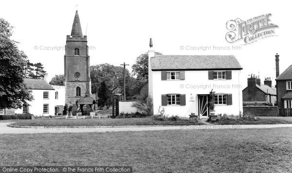 Bitteswell, White Cottage And St Mary's Church c.1960