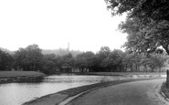 Blackburn, The Lake, Queens Park c.1955