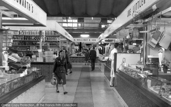 Photo of Blackburn, the Market Hall c1965
