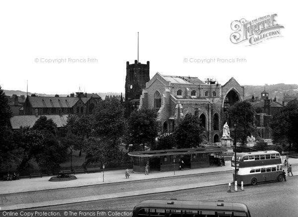 Blackburn, The New Cathedral c.1950