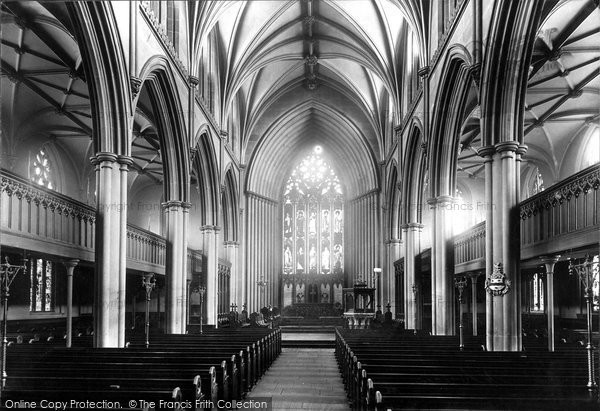 Blackburn, The Parish Church, Interior East 1894