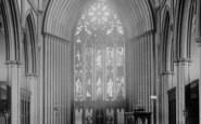 Blackburn, The Parish Church, Interior East 1894