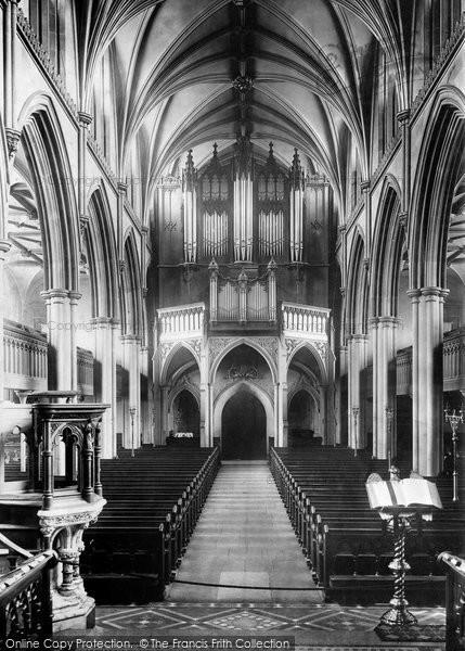 Blackburn, The Parish Church, Interior West 1894