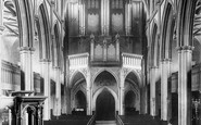 Blackburn, The Parish Church, Interior West 1894