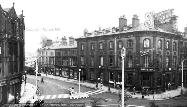 Blackburn, The White Bull Hotel c.1955