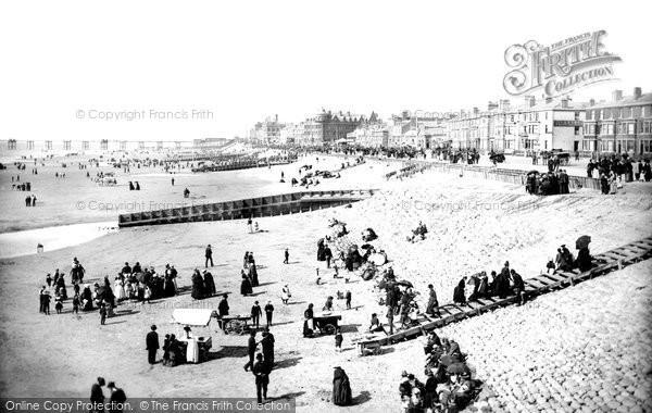 Blackpool, Central Beach 1890