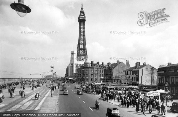 Blackpool, Central Promenade c.1955