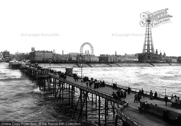 Blackpool, From North Pier 1896