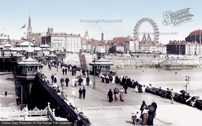 Blackpool, From North Pier 1906