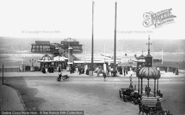 Blackpool, North Pier And Fountain 1890