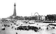 Blackpool, The Tower And The Sands 1899