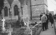 Bladon, Sir Winston Churchill's Grave, St Martin's Church 1965