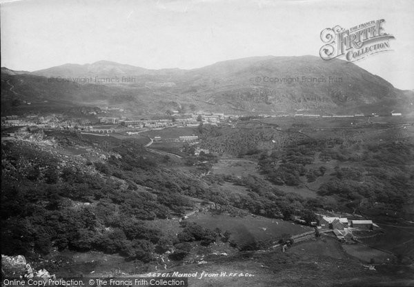 Photo of Blaenau Ffestiniog, Manod from west 1901