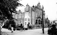 Blaenavon, Workmens Institute And Town Clock c.1955