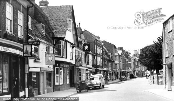 Blandford Forum, East Street c.1955