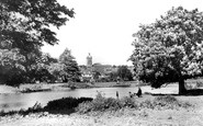 Blandford Forum, From Across The River Stour c.1955
