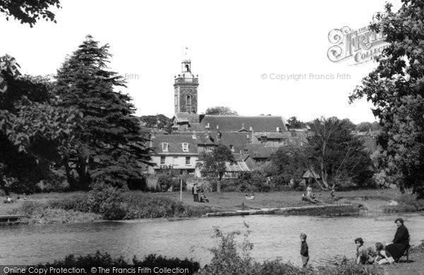 Blandford Forum, From The River Stour c.1955