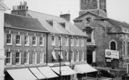 Blandford Forum, Market Place And Church c.1960