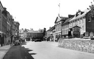 Blandford Forum, Market Place From The Church c.1955