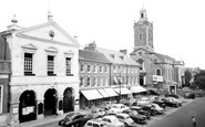Blandford Forum, The Town Hall And Church Of St Peter And St Paul c.1960