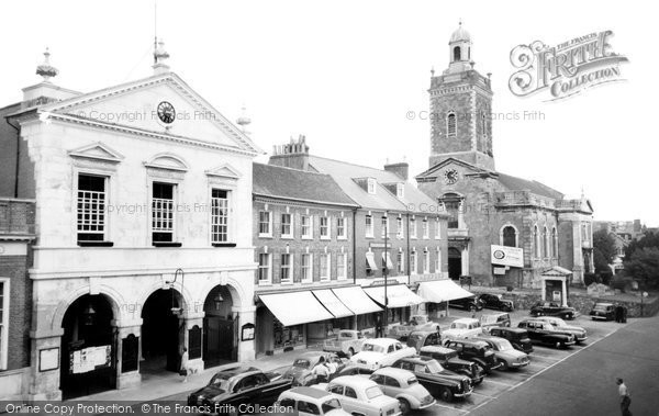 Blandford Forum, Town Hall And Church Of St Peter And St Paul c.1960