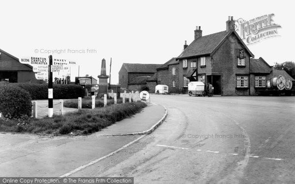 Blaxton, Blue Bell Inn Corner c.1955