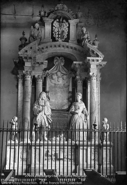 Bletchingley, Church Of St Mary The Virgin, Clayton Monument 1907