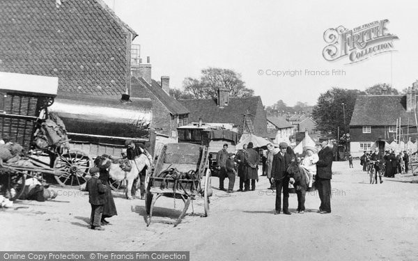 Photo of Bletchingley, on Fair Day 1907