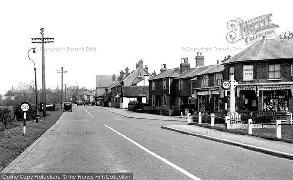 Photo of Blindley Heath, the Main Road c1955