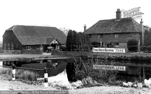 Photo of Blindley Heath, the Red Barn c1955