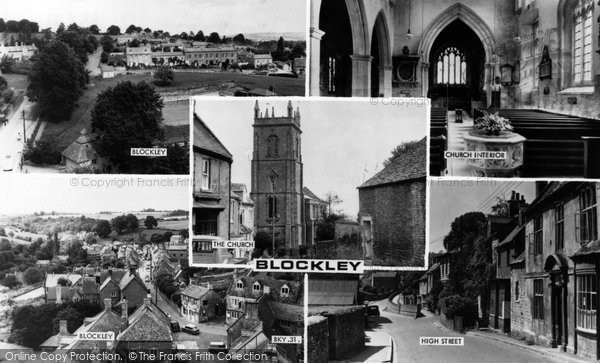 Photo of Blockley, Composite c1960