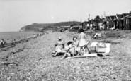 Blue Anchor, The Beach Huts c.1955