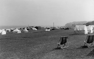 Blue Anchor, The Camping Site 1940