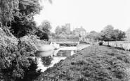 Blunham, Footbridge And River Ivel c.1965