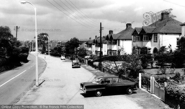 Blurton, Church Road c.1960