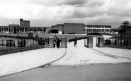 Blurton, the Smiths Arms and School c1960