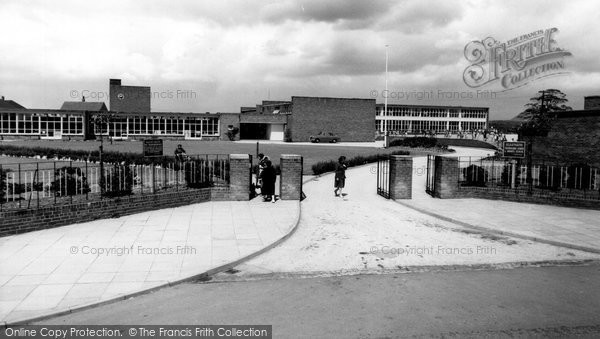 Photo of Blurton, the Smiths Arms and School c1960