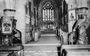 Bodelwyddan, The Chancel, St Margaret's Church c.1955