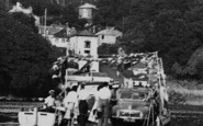Bodinnick, Visitors On The Ferry c.1960