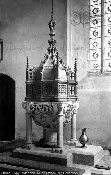 Bodmin, Church Font 1890